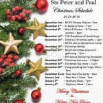 Christmas & New Year's Schedule at SPP
