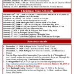 Christmas & New Year's Schedule at St. Charbel
